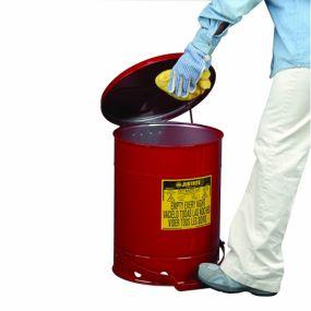 Kan voor olieachtig afval (voetbediend) - 80ltr.