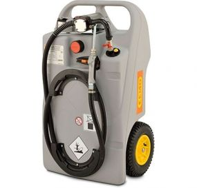 Cemo Mobiele Smeerolie trolley, inhoud 100ltr, inclusief tappistool, elektrische pomp en LifePO4 accu