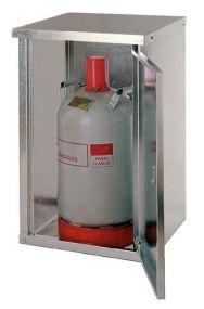 Enkelwandig gesloten opstelkast voor propaangasflessen, 1 x 11 kg