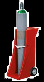 Gasflessenwagen van PE voor 1 gasfles