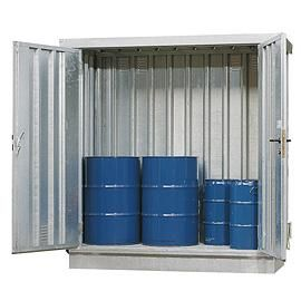 17-1008 Milieucontainer WHG 2-L staal verzinkt, afmetingen 217 x 100 x 235 cm