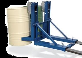 Automatische heftruck vatengrijper - voor 2 x 200 ltr vaten