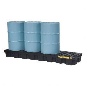 4-Drum kunststof lekbak (284ltr) - opvangbak - 246x64x30cm