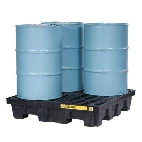 4-Drum kunststof lekbak (276ltr) - opvangbak - 125x125x26cm