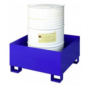 Staal gelakte lekbak (205ltr) - zonder rooster - 80x80x44cm
