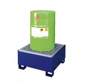 Staal gelakte lekbak (205ltr) - verzinkt rooster - 80x80x44cm