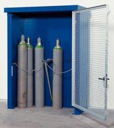 90 minuten brandwerende gasflessenberging voor 24 x 50 ltr gasfles met enkele gaasdeur