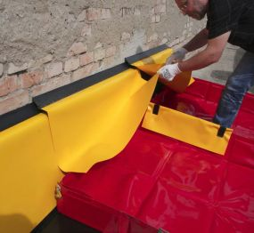 Eccotarp gevel drainageslab voor het begeleiden van vloeistoffen vanaf muren