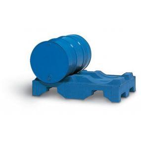 Vatenpallet van PE voor 2 vaten à 200 liter (blauw)