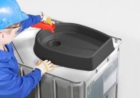 Kunststof IBC trechter 30ltr voor IBC containers