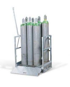 OCS115872 gasflessenpallet voor 12 gasflessen