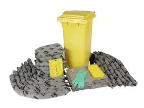 Alle vloeistoffen spill kit 120 ltr rolcontainer economic