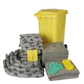 Alle vloeistoffen spill kit 240 ltr rolcontainer economic