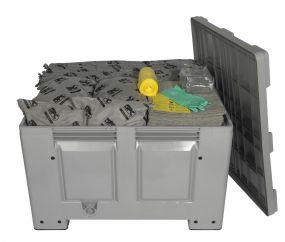 Alle vloeistoffen spill kit 600 ltr in betrouwbare, degelijke kunststof box