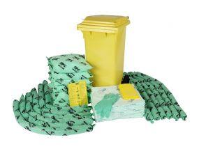 Chemicalien spill kit 120 ltr rolcontainer economic