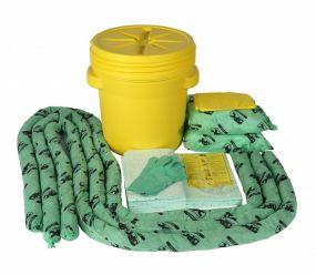 Chemicaliën spill kit 60 ltr Lab Pack, verpakt in goedgekeurd UN vat