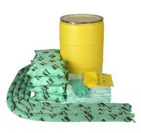 Chemicalien spill kit 150 ltr in waterdichte UN drum