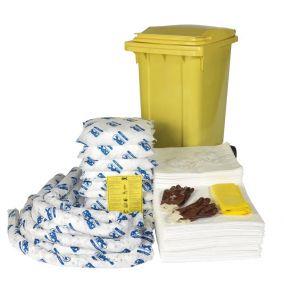 Olie spill kit(olie, diesel, benzine, kerosine, etc) 240 ltr rolcontainer economic