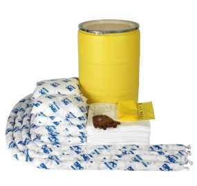 Olie spill kit 150 ltr in waterdichte UN drum