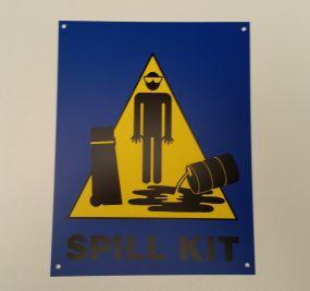 Markeringsbord van kunststof voor calamiteiten spill kits