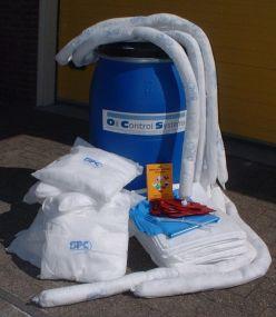 OPA90 Oil Spill Kit 1,5 barrel, 238 ltr EXCLUSIEF accessoires (2 vaten)