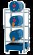 Aftapstation van verzinkt staal voor 3 vaten à 60 liter met lekbak zonder rooster