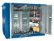 Milieucontainer WHG 3-L staal verzinkt, afmetingen 300 x 218 x 235 cm(6 m²), deur lange zijde