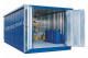 Milieucontainer WHG 5-K staal verzinkt, afmetingen 223 x 500 x 235 cm(11 m²), deur korte zijde